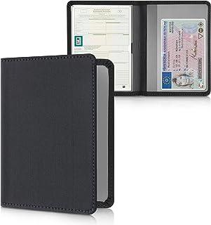 kwmobile Porte permis de Conduire Carte Grise avec Compartiments Cartes Passeport - Étui Portefeuille de Protection en néo...