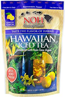 NOH Foods of Hawaii Iced Tea Mix, 3 Pound (Pack of 5)