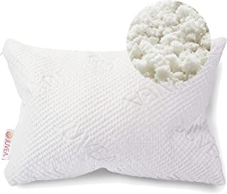 JUVEA 100% Natural, Adjustable Talalay Latex Down Alternative Pillow, Cotton Breathable Cover, Best Pillow to Support Head and Neck, Standard/Queen ComforFill – Made in USA