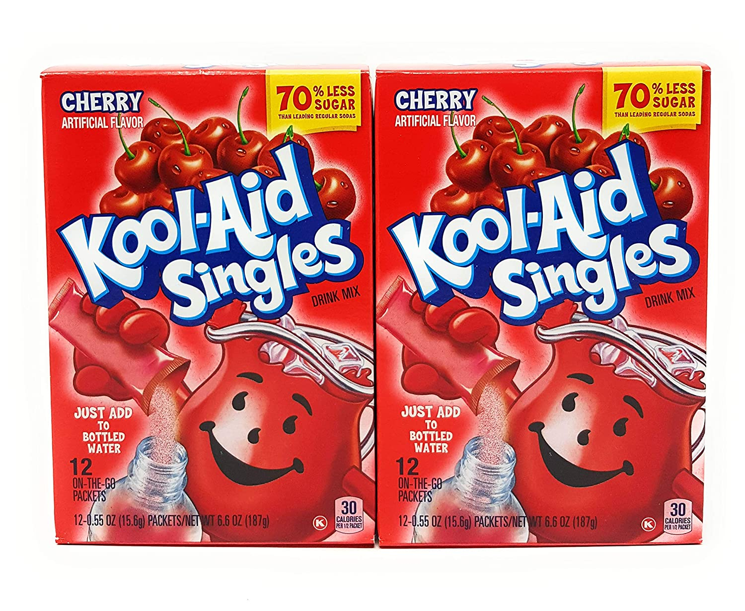 Kool-Aid Cherry Drink Mix Max It is very popular 70% OFF Singles of 12ct 2 Case