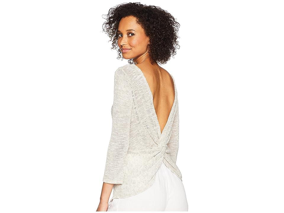 Three Dots Linen Sweater (Sailcloth) Women
