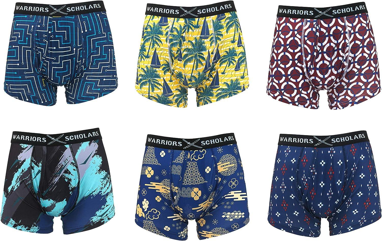 Warriors & Scholar Men's Trunk Underwear – Moisture-wicking Trunk Boxer Briefs