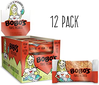Bobo's Oat Bars, Maple Pecan, 3 oz Bar (12 Pack), Gluten Free Whole Grain Snack and Breakfast Bar