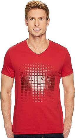 Calvin Klein - V-Neck Foil Logo Tee