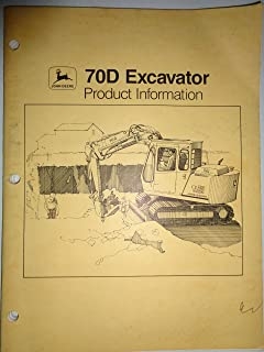 John Deere 70D Excavator Product Information Sales Manual 10/87