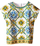 Dolce & Gabbana Kids - Medallion Print Top (Toddler/Little Kids)