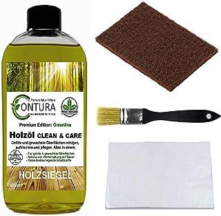 Contura Clean & Care Pflegeöl SET Regenerator Fussbodenöl Holzöl Parkettöl Holzschutz nachölen auffrischen pflegen Holzpflegeset Pflegeset Pflegemittel Fussbodenpflege
