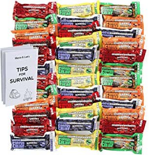 S.O.S. Food Labs Millennium Assorted Energy Bars (6 Count) – Long Shelf Life Fruit..