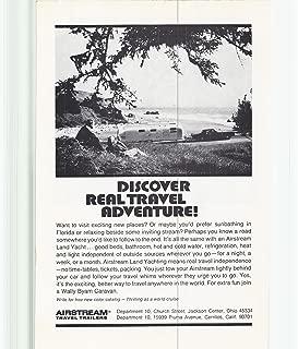 1972 Vintage Magazine Advertisement Airstream Travel Trailers