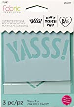 """Fabric Creations Adhesive Tween Stencil, 3"""", clear"""