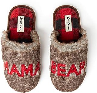 Dearfoams Family Collection Furry Bear Scuff Slipper Papa, Mama & Little Bear - Scarpa da casa, collezione famiglia, solet...
