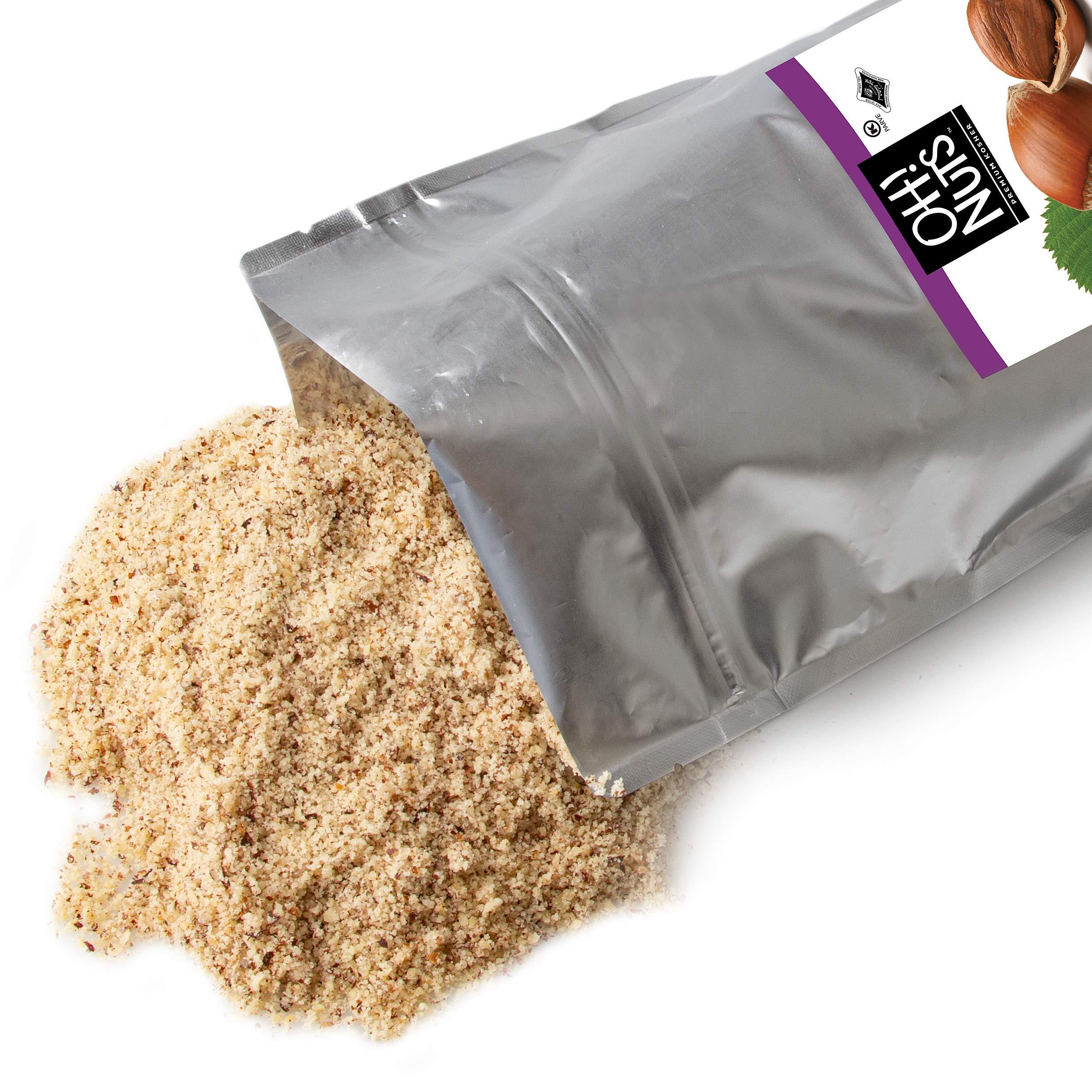 Oh! Nuts Ground Hazelnut Flour | 2lb Bulk Bag Keto-Friendly Nut Flour from Ground Filberts, Kosher Gluten Free Baking Hazelnuts Meal, Vegan Milled Filberts | Healthy Alternative Certified Kosher