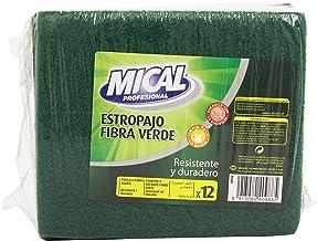 Mical - Estropajo Fibra Verde - Resistente y duradero - 12 unidades