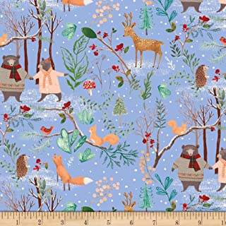 Windham Fabrics A Walk In The Woods Fabric, Blue, Fabric By The Yard
