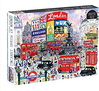 Mudpuppy Galison Michael Storrings 1000 Piece London Jigsaw Puzzle for Adults, Illustrated Art Puzzle with Scene from The Streets of London