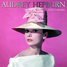2020 Wall Calendar - Audrey Hepburn Calendar, 12 x 12 Inch Monthly View, 16-Month, Famous 50s Actress Celebrity Icon, Includes 180 Reminder Stickers