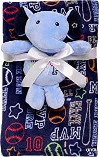 Baby Starters 2-Piece Snuggle Buddy and Blanket Set, Blue Elephant