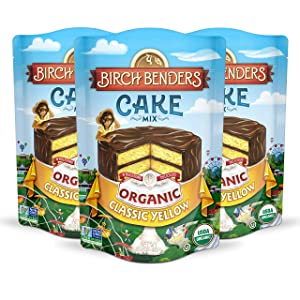 Organic Classic Yellow Cake Mix by Birch Benders, 3 Pack (15.2oz each)