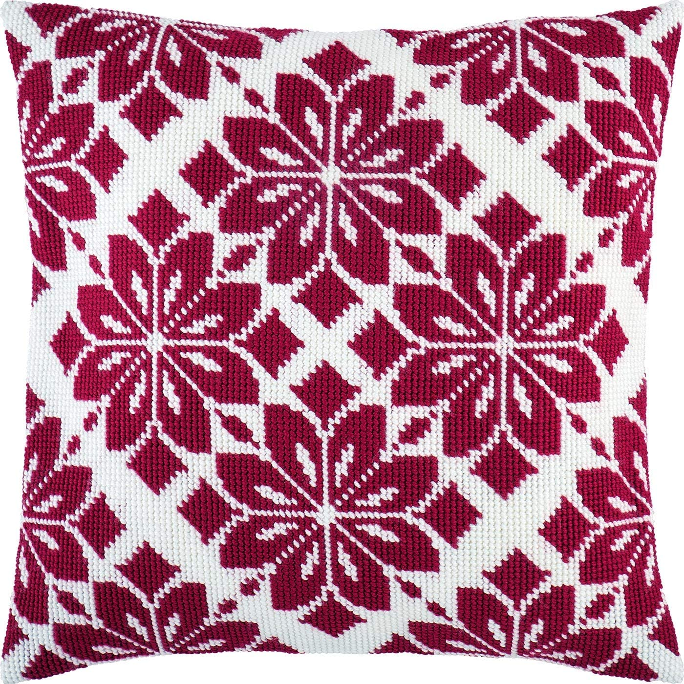 European Quality Printed Tapestry Canvas Nordic Star Needlepoint Kit Throw Pillow 16/×16 Inches