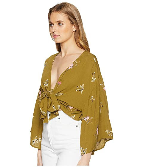 Billabong Knot Yours Woven Top Avocado Buy Cheap Store Marketable Cheap Price Free Shipping Comfortable Factory Outlet Online T4nEeQrloj
