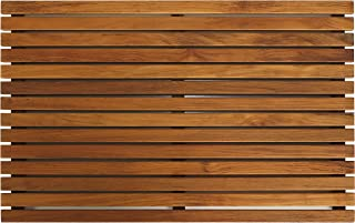 "Bare Decor Zen Shower, Spa, Door Mat in Solid Teak Wood and Oiled Finish, Large: 31.5"" x 19.5"" (Renewed)"