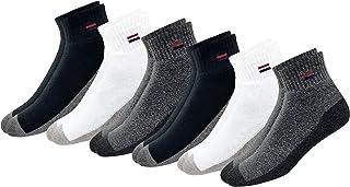 NAVYSPORT, Cojín De Algodón Comodidad Trimestre Calcetines Deportivos de los hombres|Multicolor (6 Pares)|5-8 UK (tamaño del zapato)