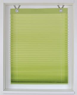comprar comparacion Estor plisado con ojales, aproximadamente 40/50/60/70/80/100x 125/210cm, tela, verde, ca. 100 * 125 cm