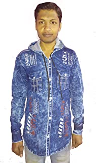 Denim Shirt for Party and Casal Wear Light Blue