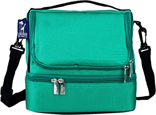 Wildkin Large Insulated Two Compartment Lunch Bag for Men and Women, Perfect Size for Packing Hot or Cold Snacks for Work and Travel, Colors Coordinate with Our Backpacks and Duffel Bags