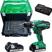 HIKOKI 84672110 Taladro atornillador inalámbrico con 100 piezas. Accesorios: