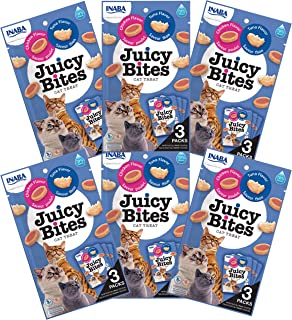 INABA Juicy Bites Chicken and Tuna Flavor 6 Packs, 33.9 Grams (USA701A)