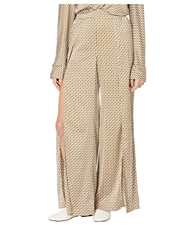 Jonathan Simkhai Chain Print Wide Leg Pants (White Combo) Women