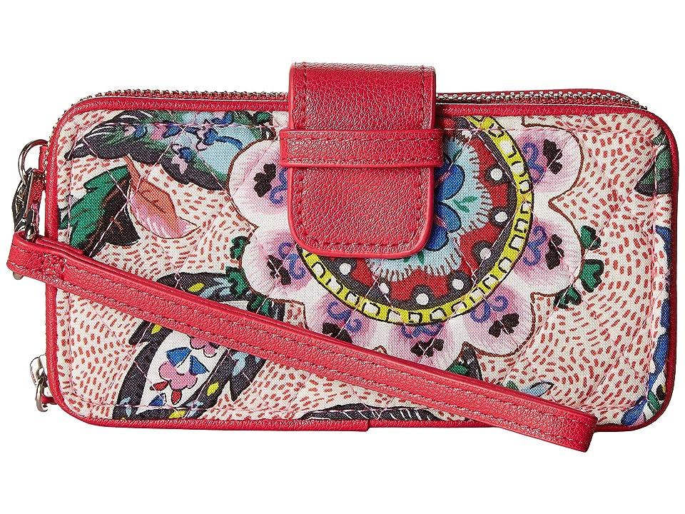 Vera Bradley RFID Smartphone Wristlet (Stitched Flowers) Wristlet Handbags