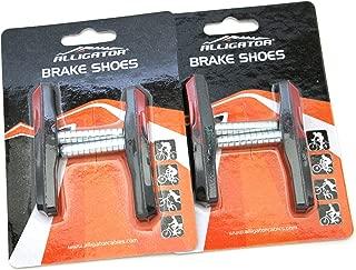 Alligator VB-706-2 Cantilever MTB Mountain Bicycle Bike Post Type Brake Shoes Pads (2 Pair), Black/Red
