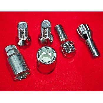 Schl/üsseldurchmesser 25,8 mm Gesamtl/änge der Schraube 61,00 mm Kegelsitz M12 x 1,50 SW17 Schaftl/änge 36,3 mm Standard 27112SU Radsicherungsbolzen SU