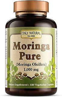 Only Natural Moringa Pure - 1000 mg - 180 Vegetarian Capsules