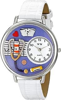 Whimsical Watches Women's U0620042 Unisex Silver Nurse Purple White Skin Leather And Silvertone Watch