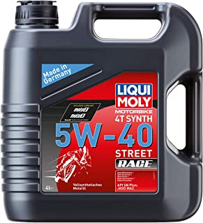 Best Liqui Moly 20076 Motorbike 4T Synthetic 5W-40 Race Engine Oil - 4 Liter Review