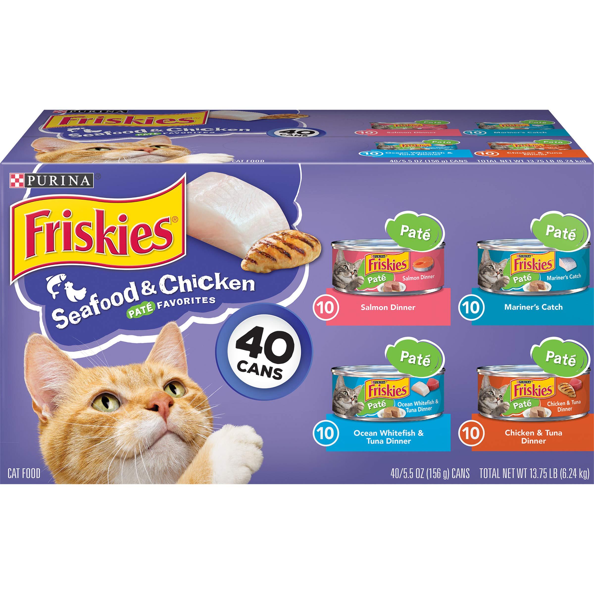 Purina Friskies Pate alimento húmedo para gatos, paquete variado ...