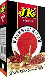 JK MILD HOT RED CHILI POWDER 3.53 Oz, 100g (Kashmiri Lal Mirch, Mild Hot Chilli) Non-GMO, Gluten Free and NO Preservatives!