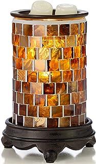 VP Home Mosaic Glass Fragrance Warmer (Radiant Sienna)