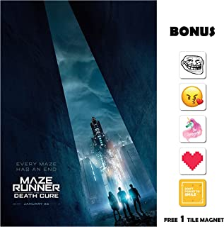 Movie Poster Maze Runner: The Death Cure (2018) - Building - 13 in x 19 in Flyer Borderless + Free 1 Tile Magnet