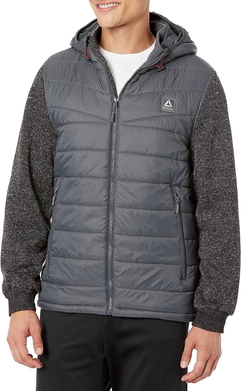 Reebok mens Fleece Active Jacket