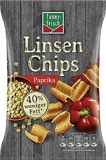 funny-frisch Linsen Chips Paprika, 12er Pack 12 x 90 g