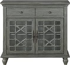 Treasure Trove Two Drawer Two Door Cabinet, Grey
