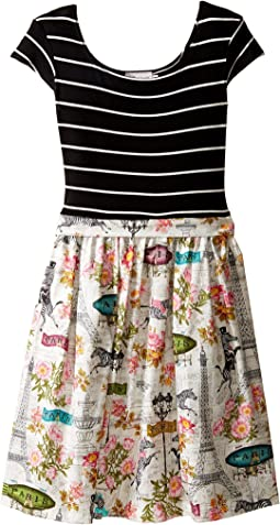 fiveloaves twofish Wild in Paris Maddy Dress (Little Kids/Big Kids)
