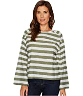 TWO by Vince Camuto - Wide Long Sleeve Lydia Stripe Tee