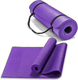 Extra Thick Yoga Mat, Non-Slip Exercise Mat with Storage Bands -Workout Gym Matt for Floor Exercises, High-Density Anti-Te...