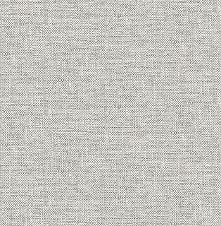 NuWallpaper NU2873 Poplin Texture Grey Peel and Stick Wallpaper