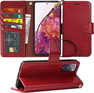 Arae Case for Samsung Galaxy S20 FE 5G PU Leather Wallet Case Cover [Stand Feature] with Wrist Strap and [4-Slots] ID&Cred...
